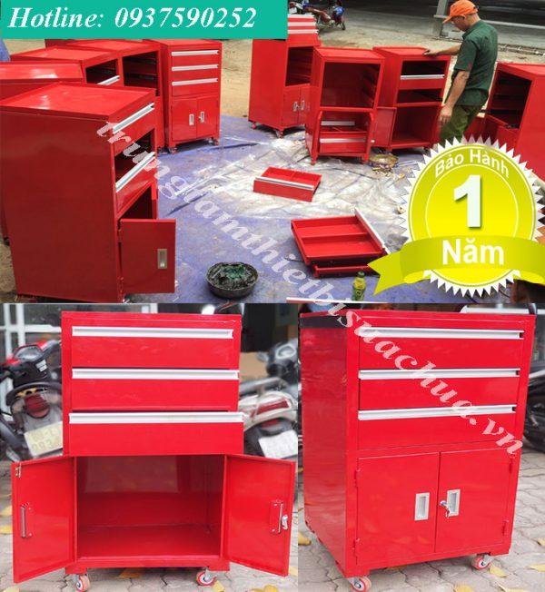 tủ đồ nghề 2 cánh 3 ngăn kéo